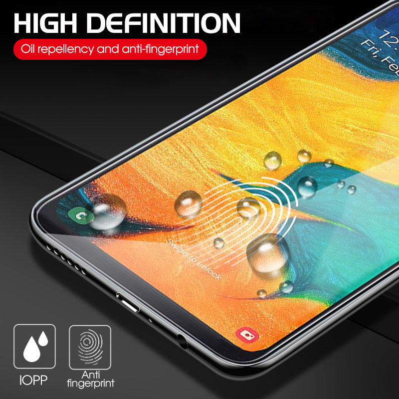 Image 5 - 9H Tempered Glass For Samsung Galaxy A50 A30 M20 M30 A10 M10 A7 2018 A750 Transparent Cover Screen Protector Toughened Glass-in Phone Screen Protectors from Cellphones & Telecommunications
