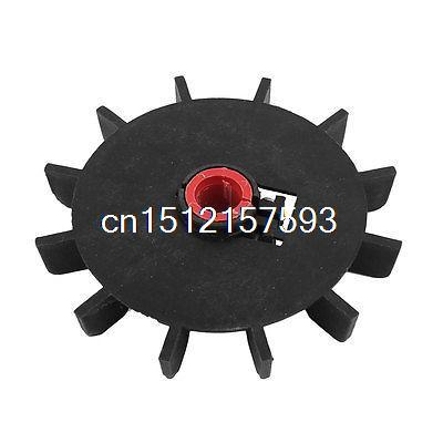Replacement Black Plastic 14mm Inner Diameter 12 Blades Impeller Motor Fan image