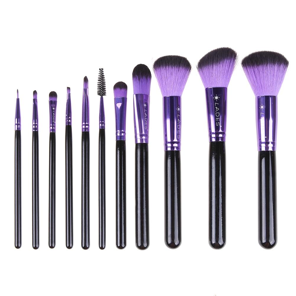 2017 11pcs Makeup brushes Professional Eyebrow Blusher Foundation Cosmetic Make up brush set Maquiagem professional bullet style cosmetic make up foundation soft brush golden white