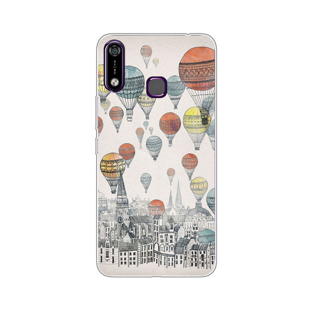 Infinix Hot 7 X624 Case,Silicon Fashion Cartoon Painting Soft TPU Back Cover for Infinix Hot7 X624 X624B protect Phone bags