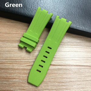 Image 5 - 28mm Soft Black White Green Yellow Orange Gray Blue Red Silicone Rubber Watch Strap Bracelet For AP ROYAL OAK Watchband Belt