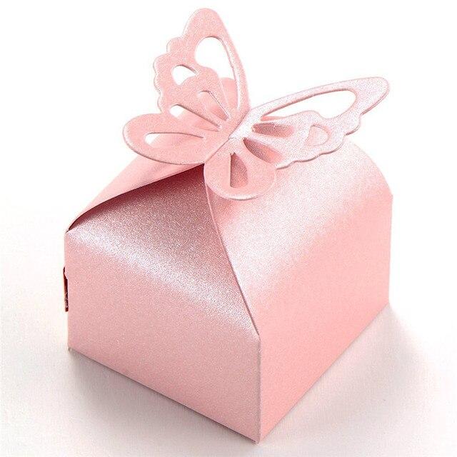 50 шт. украшения бабочки буфет Dragees Свадебные украшения крещение, рождение розы