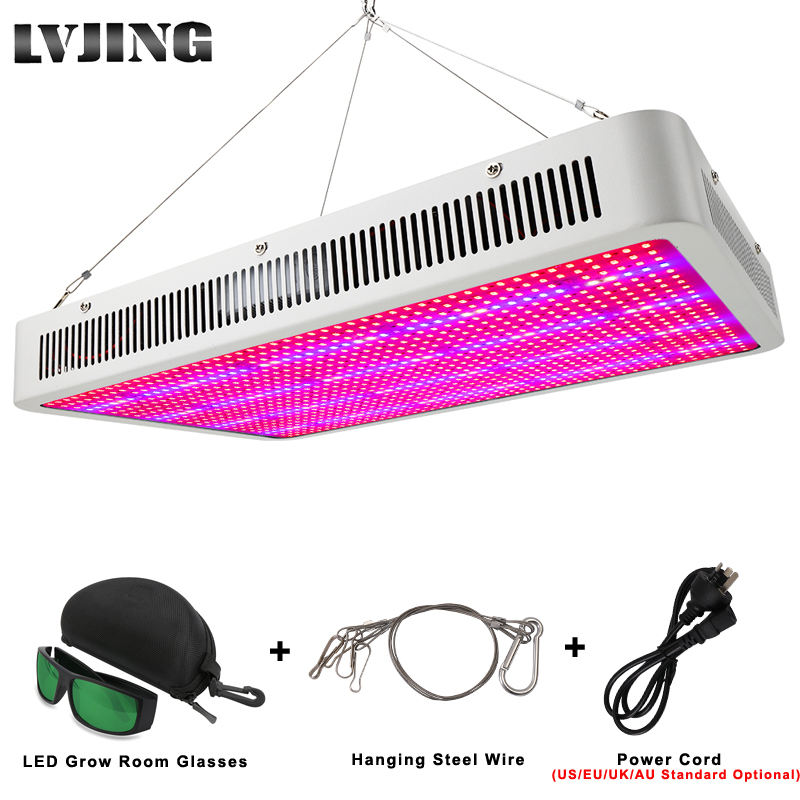 LVJING Led Grow Light 300/400/500/600/800/1000/1200/1600W Full Spectrum For Indoor Greenhouse Grow Tent Plants Grow Led Light