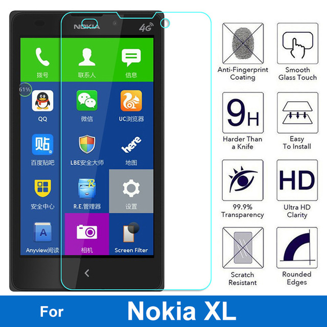 25d tempered glass for nokia xl high quality protective film 25d tempered glass for nokia xl high quality protective film explosion proof screen protector for nokia xl 4g 1030 1061 in screen protectors from reheart Images