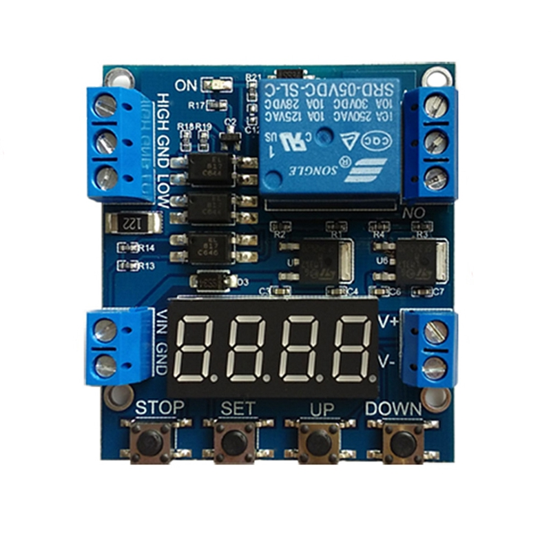 1 Channel Relay Module Cycling Timing Counting Control Voltage Detection Trigger  W310 1pcs current detection sensor module 50a ac short circuit protection dc5v relay