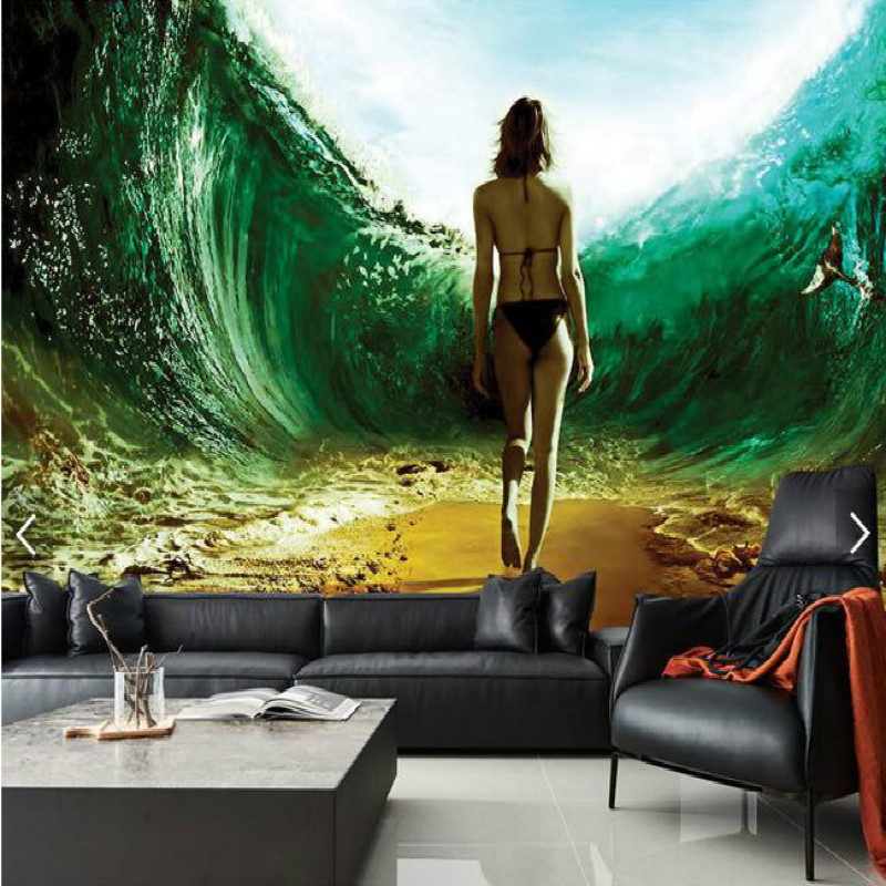 Underwater channel sexy beauty 3D large mural 3D wallpaper living room bedroom 3D wallpaper painting TV background 3D wallpaper dove tree ceiling zenith large mural 3d wallpaper bedroom living room tv backdrop painting three dimensional 3d wallpaper
