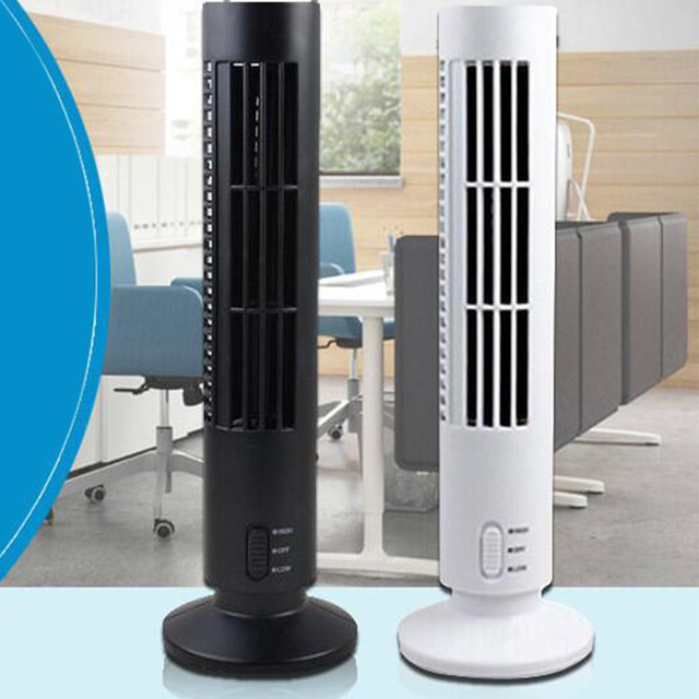 Portable Usb Mini Bladeless Fan No Leaf Air Conditioner Cooling Cool Desk Tower For Home
