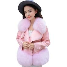 цены на New Autumn and winter Fur&Faux Fur Coat For Women leather Tops&Jacket Female Artificial PU leather Coats Fluffy Rabbit jacket  в интернет-магазинах