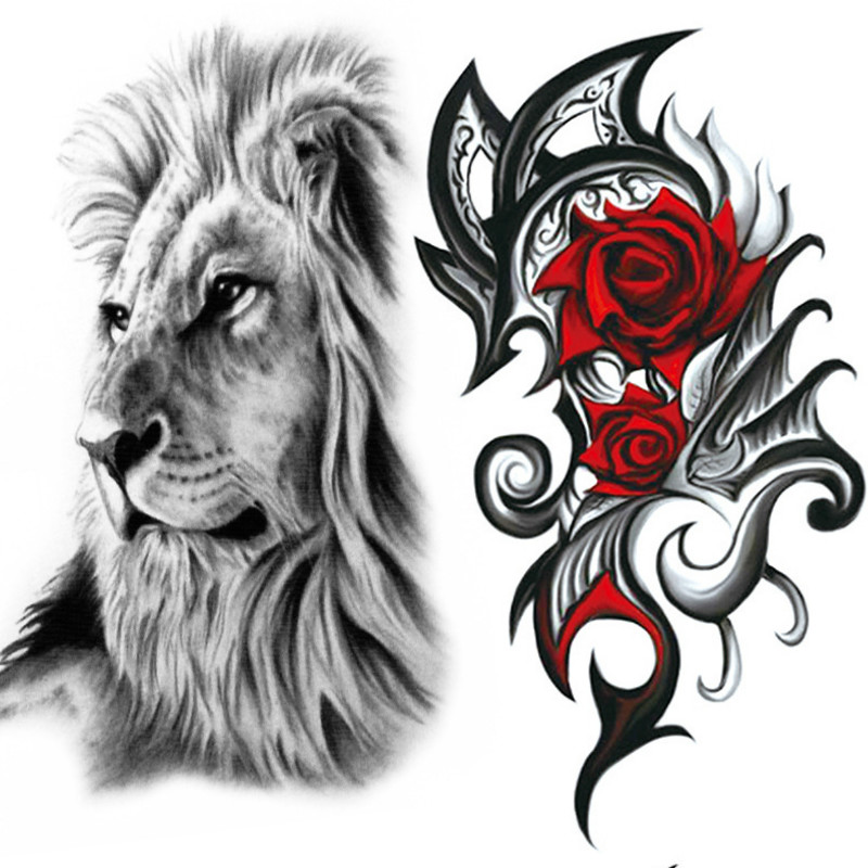Wholesale 1000pcs Unique 900 Styles Full Body Tattoo 21CM Waterproof Temporary Tattoo Dragon Skull Flower Paste Sticker Tatuajes