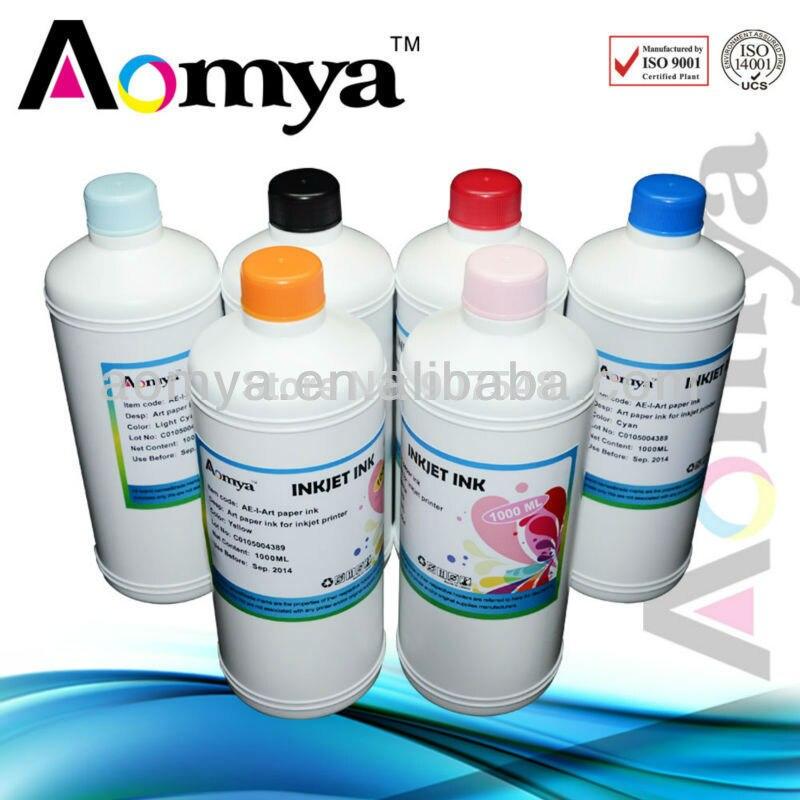 Prix pour 250 ml x 6 Couleurs Sublimation d'encre/de transfert de chaleur d'encre pour tasses t-shirt/tapis de souris, pour Epson Stylus Photo 1400/1430 Imprimante