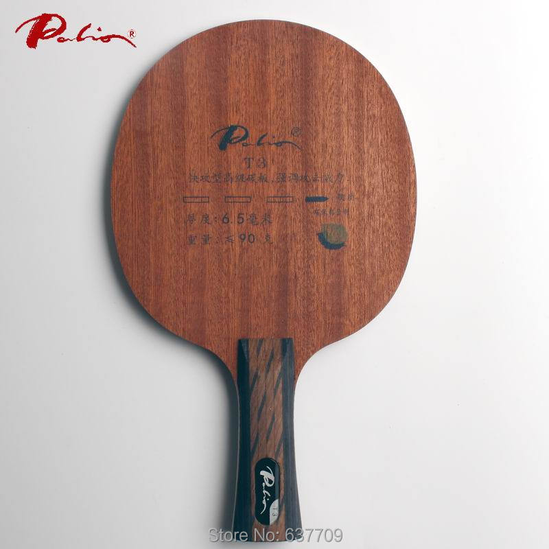 Original Palio T3 (T 3, T-3) Table Tennis Blade 5 Wood+2carbon Table Tennis Racket Indoor Sports Fast Attack With Loop