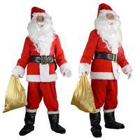 Adult Santa Claus men's wear Christmas Costume women's dress dress up dress suit cosplay Christmas Dressing red winter coat