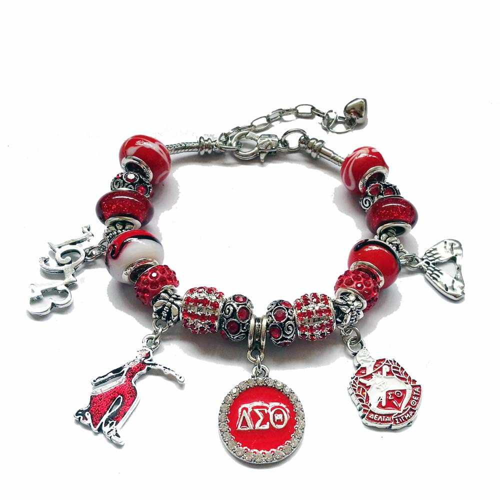 4b2dc569c ... Delta Sigma Theta Sorority 1913 plam sign Lady Fortitude hand sign  Charm necklace DST necklace Jewelry