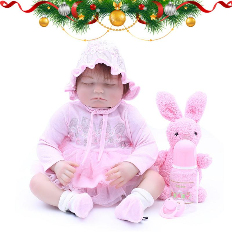 Lifelike Realistic Baby Doll Babes Reborn Doll 48cm Soft Silicone Reborn Baby Dolls Silicone Christmas Gifts Lol Doll Surprise