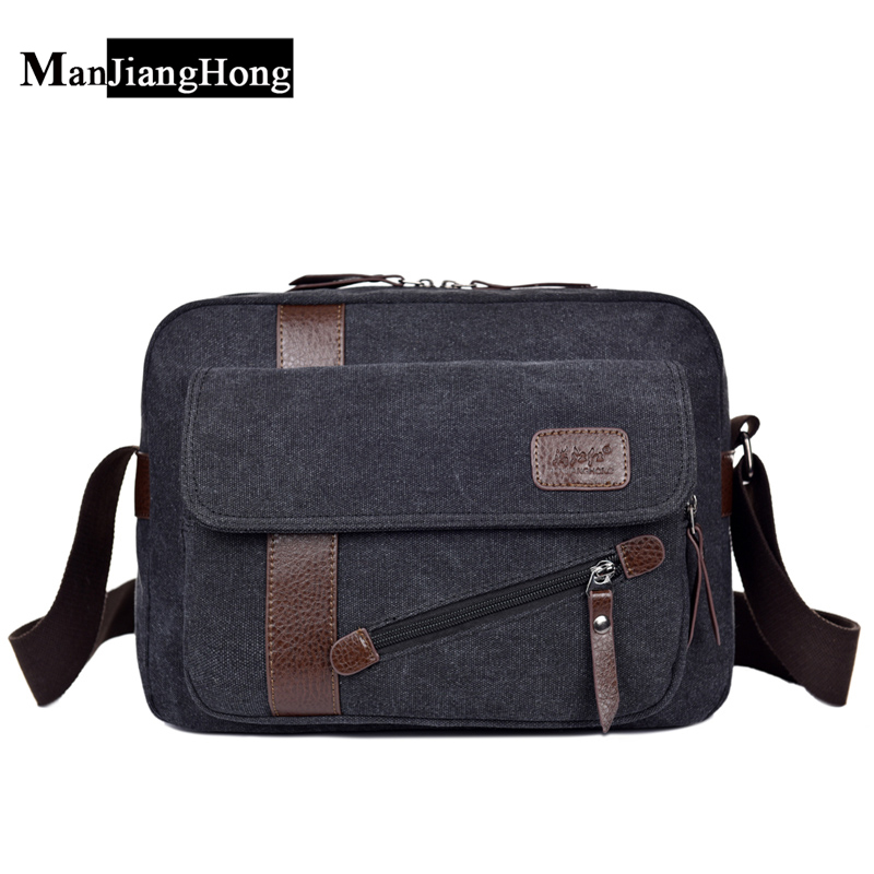 все цены на 2017 Vintage Men's Messenger Bags Canvas Shoulder Hand Bag Fashion Men Business Crossbody Bag Travel Handbag