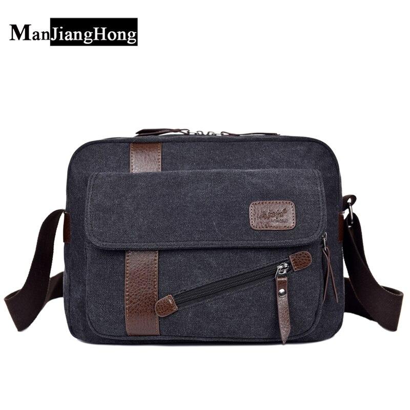 2017 Vintage Herren Messenger Bags Leinwand Schulter Handtasche Mode Männer Business Crossbody Reisetasche Handtasche Einen Einzigartigen Nationalen Stil Haben