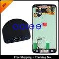 Бесплатная доставка тест-оригинала для Samsung Galaxy S5 G900 G900F жк-дисплей с сенсорным экраном жк-сборки с кнопкой + стикер - белый / черный