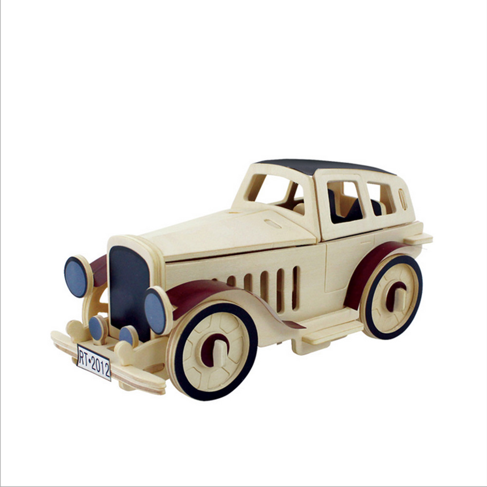 3D Puzzles For Children Wooden Toys Educational Toys For Kids Wooden JP352 Classic Car Educational Games