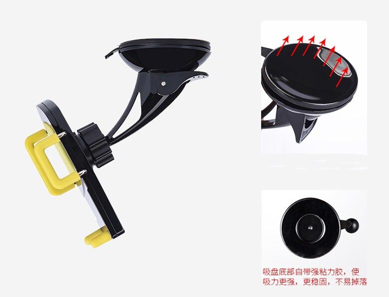 Всасывающий приборной панели автомобиля вентиляционное отверстие Клип мобильного телефона автомобильные держатели Подставки для Alcatel Go …