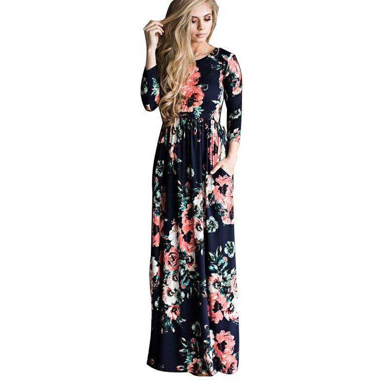 Bohemian Mutterschaft Kleid Floral Bedruckte Kleider Für Schwangere Frauen Lange Hülse Mit Drei Vierteln Lose Maxi Kleid Vestidos Boho 3xl Elegantes Und Robustes Paket