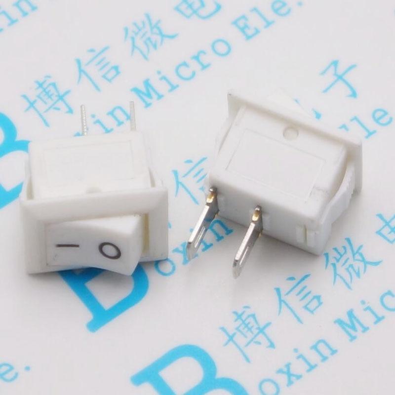 10*15 segundo interruptor tipo de navio mini branco 2 pés quadrado Pequeno botão rocker de energia