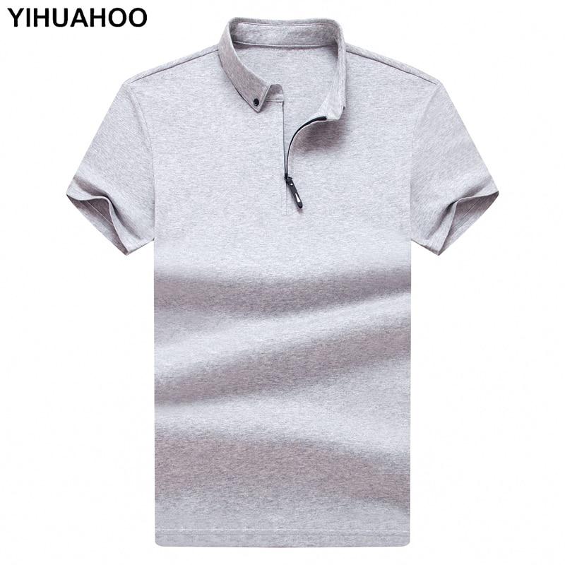 Dropshipping   Polo   Shirt Men High Quality Men Cotton Short Sleeved Casual Summer Dress Shirt Brand   Polos   Para Hombre Size M-4XL