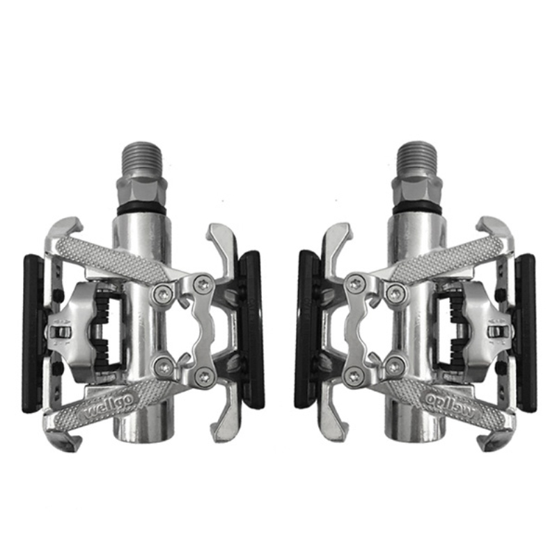 ФОТО C099 Aluminum Alloy +CR-MO Foot Pedal Road/Mountain Bike Lock Riding Double-sided Dual-bearing Pedals JD00102