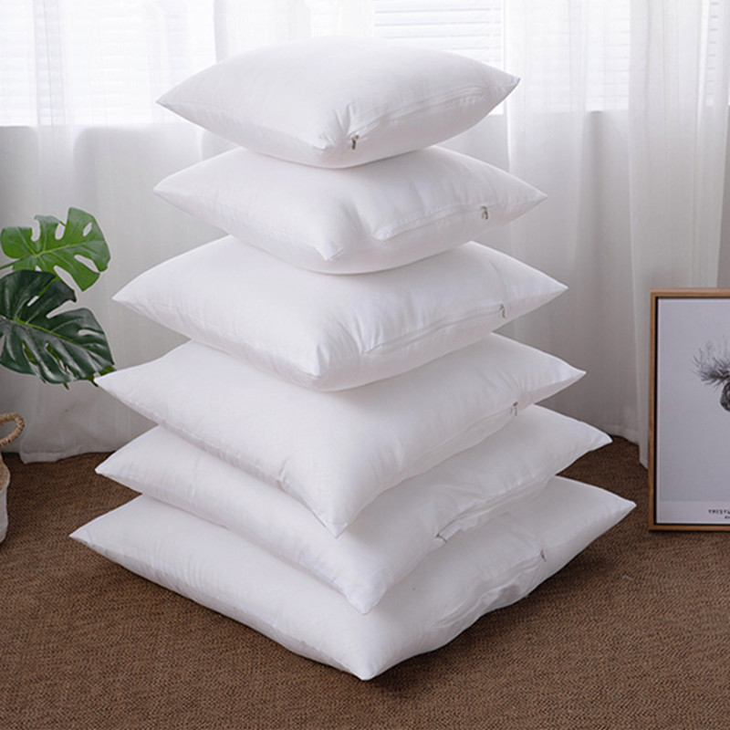 Anluve White Fabric Filling Pillow Cushion Core Insert Decorative Pillows PP Cotton Filling  For Sofa Car Soft Cushion Core