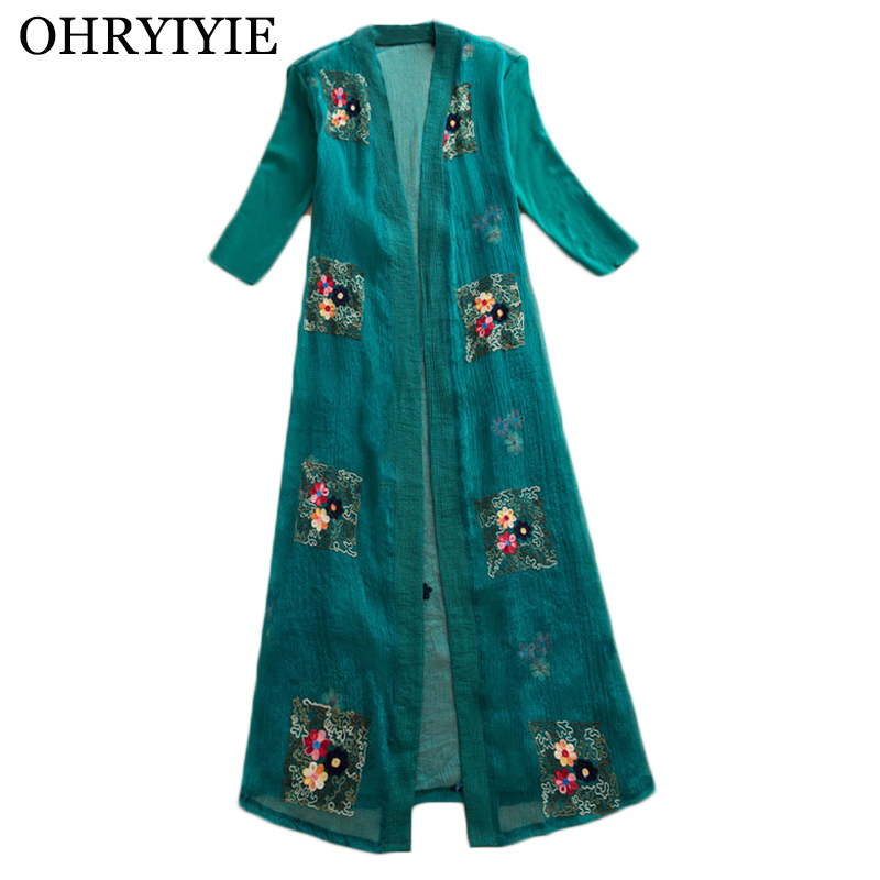 OHRYIYIE Plus Size 5XL Floral Printed Women Cardigan Poncho 2020 Spring Summer Vintage Knitted Sweater Ladies Thin Outwear Femme