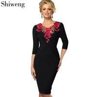 Shiweng 2019 New Fashion Casual Summer Clothes for Women Sexy Work Linen Dresselegant Vestido Mujer Dress b330