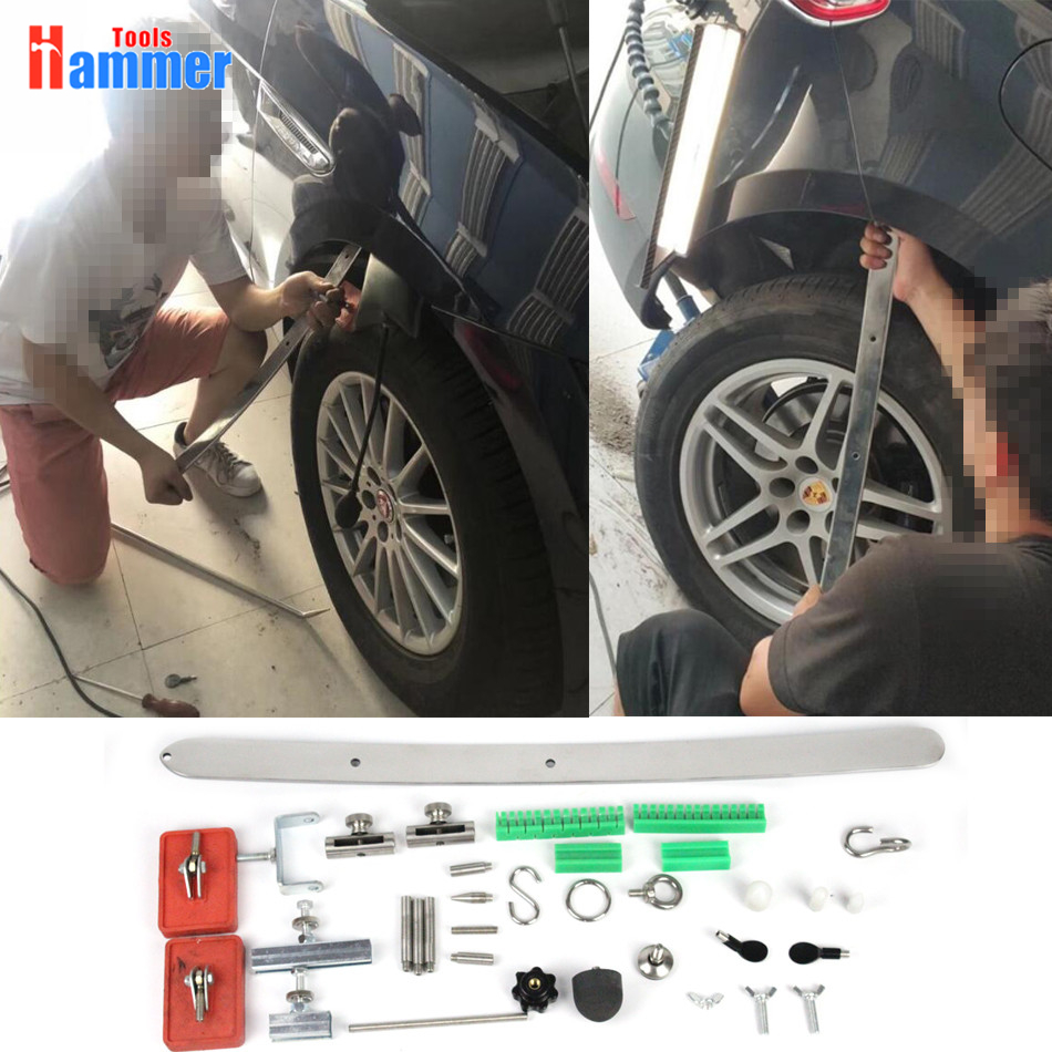 Flat PDR hook tools paintless dent repair kit flat steel bar bridge puller цена