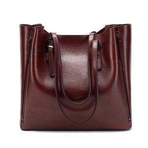 Image 3 - חדש אופנה יוקרה תיק נשים נשים גדול תיק נשי דלי כתף שקיות גברת עור שליח תיק קניות תיק
