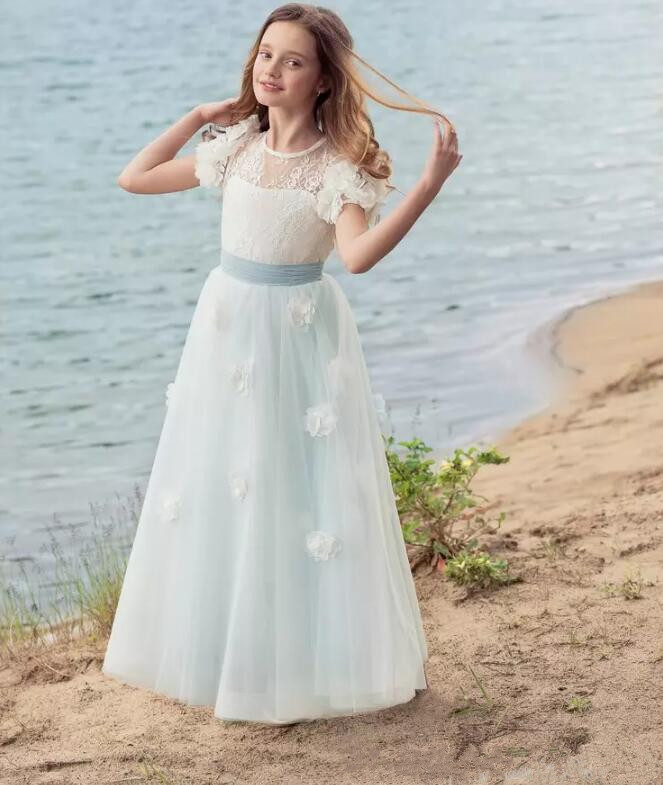 Cute Custom Made High Quality Flower Girls Dresses for Wedding 2017 Girls Pageant Dress Birthday Gown Any Size ow amelie lacroix widowmaker cosplay costume custom made any size