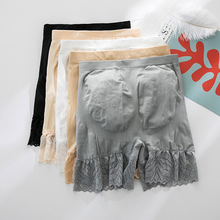 Женские летние защитные брюки больших размеров с завышенной талией, шорты с животиком, женские надежные кружевные Панталоны с высокой талией, трусы-боксеры#20