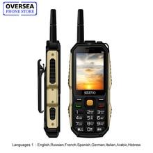 SERVO P20 2.4″ Quad Band 3 SIM Card Cellphone GPRS TV Voice Changing Laser Flashlight Power Bank Russian Keyboard Mobile Phone