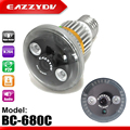 Eazzydv bc-680c casa lâmpada de segurança cctv dvr câmera com motion detection night vision suporte max 32g tf de armazenamento circular cartão