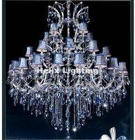Free Shipping Newly D150cm H200cm 35 Arms E14 LED Royal Crystal Chandelier Hotel Lobby Modern Crystal