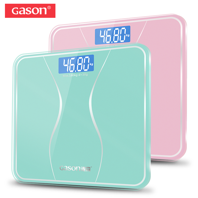 GASON A2s Bathroom Body Scale Glass Smart Household Electronic Digital Floor Weight Balance Bariatric LCD Display 180KG/50G