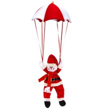 Christmas Home Ceiling Decorations Parachute 24cm Santa Claus Snowman