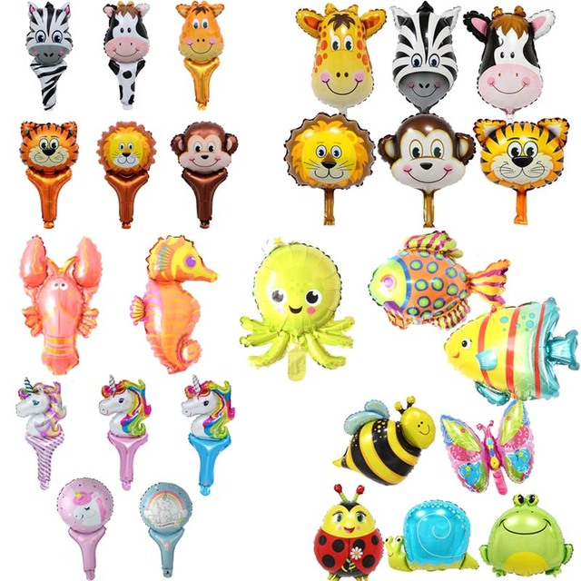 WEIGAO Mini Animal Foil Balloons Jungle Zoo Birthday Party Decorations Kids Sea Fish Inflatable Toys Baby Shower Ballons