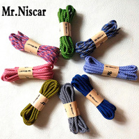 Mr Niscar 1 Pair Brand Shoelaces Shoestring Round Hiking Walking Camping Colour Striped Shoe Laces String