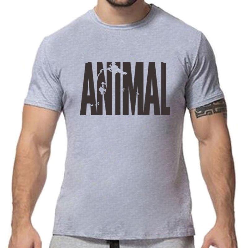 RUMEIAI Brand Clothing Mens Animal print tracksuit cotton t shirt Hip Hop Short Sleeve t-shirt Men O-neck streetwear fitness Tee