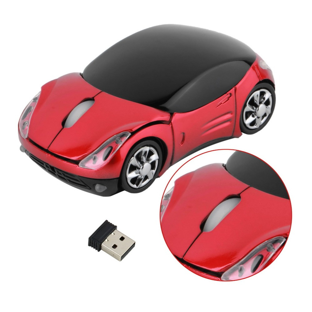 ᗖ1000DPI Wireless Car ᗗ Optical Optical Mouse Car Shape ...