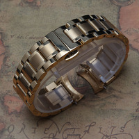 18mm 19mm 20mm 21mm 22MM 23mm 24MM Solid Stainless Steel Curved End Watch Strap Band Bracelet gold Fashion color promotion new