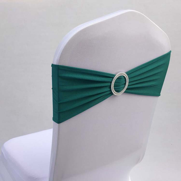 Plastic Wedding Bands >> Free shipping 100pcs Teal Stretch Lycra Chair Bow Tie Spandex Chair Sash Bands With Plastic ...