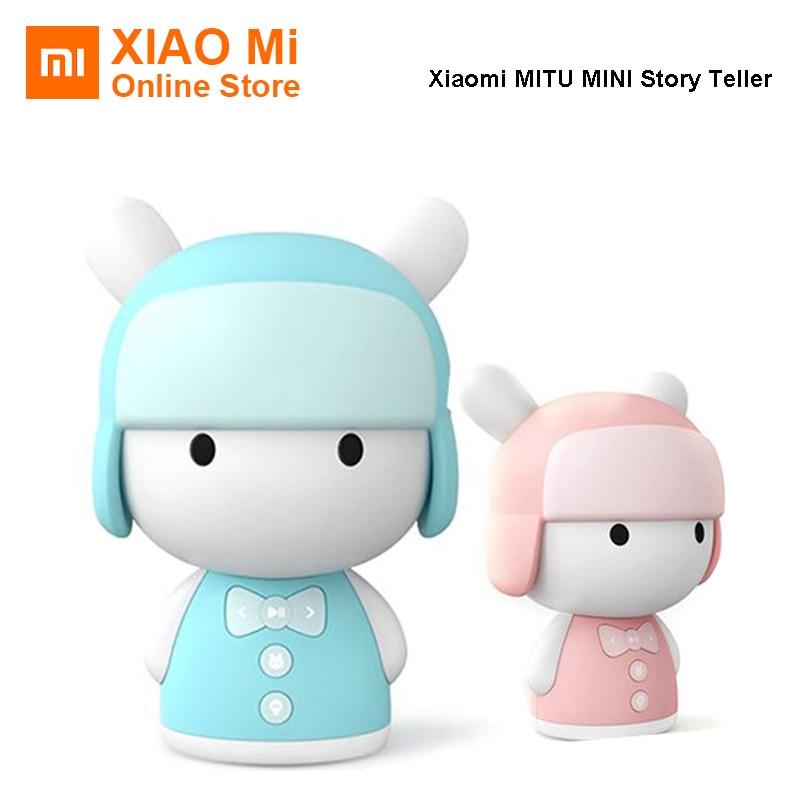 Original Xiaomi MITU Intelligent Story Teller Robot Toy 8GB Mini Robot Speaker Xiaomi Mi Robot Action Figure Kids Birthday Gift