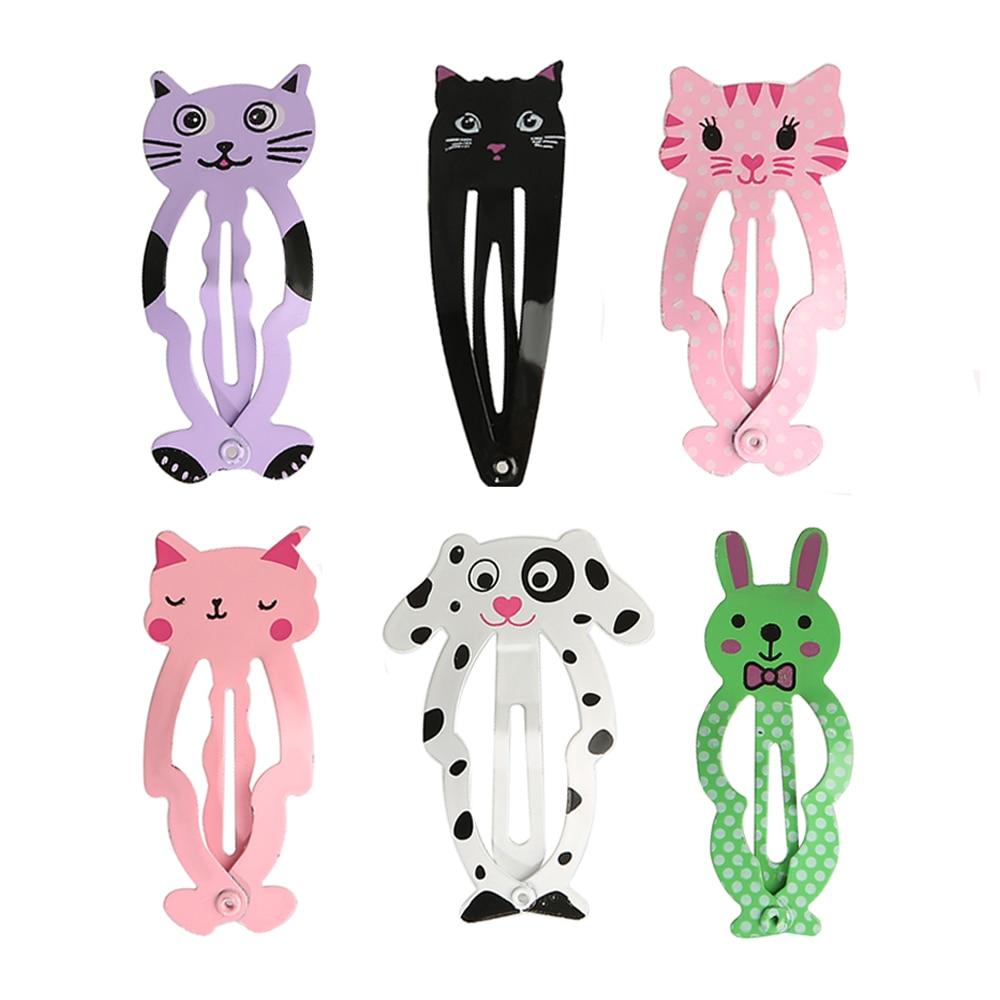6pcs/set Fashion Cute Women Kids Animal Hairpins   headwear   barrettes Hair clips Snap Clips Children Girls Hair Accessories Gifts