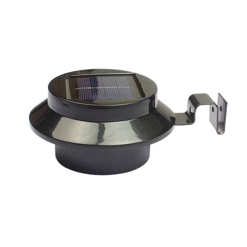 Solar Power Powered Light Gutter Fence Path 3 LED With Bracket Spot Security