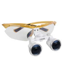 3.5X 320mm Dental Surgical Medical Binocular Loupes 3.5X 320mm Optical Glass Loupe Dentist Dental Teeth Whitening