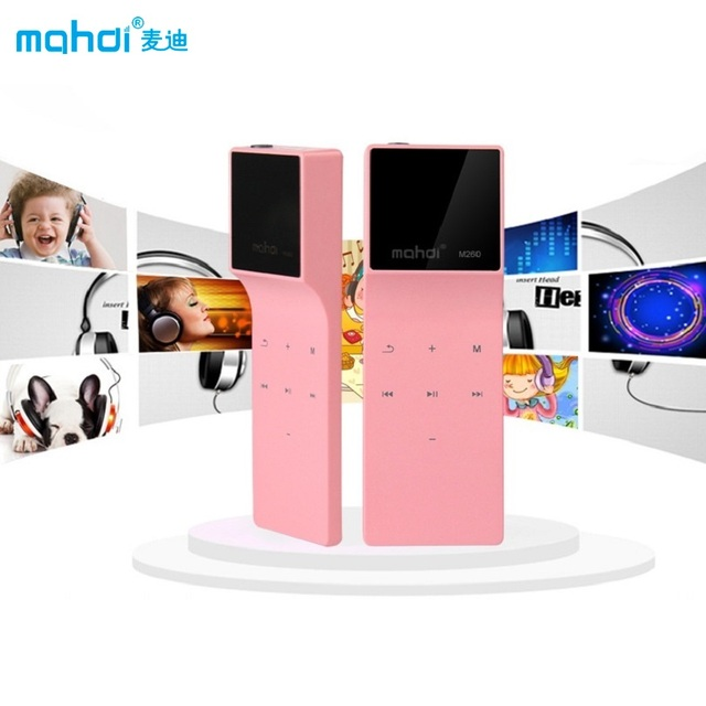 Mahdi Bluetooth MP3 Player 8G Lossless Music Player Touch MP3 24 Languages With Pedometer Recorder E-book Sport Clip Armband